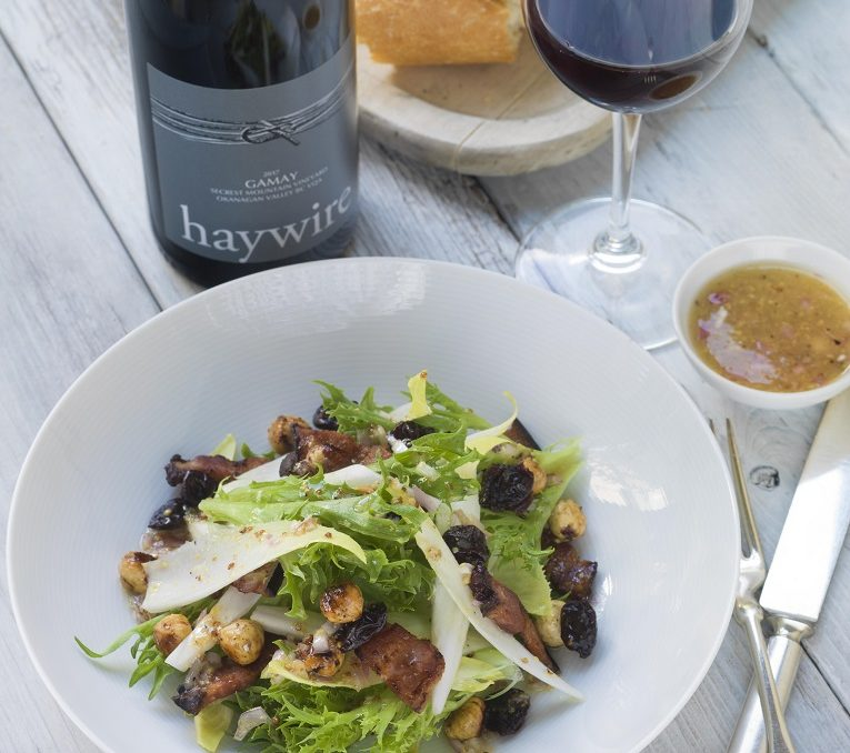 wine and food pairing Gamay Wine Haywire Okanagan Crush Pad Winery