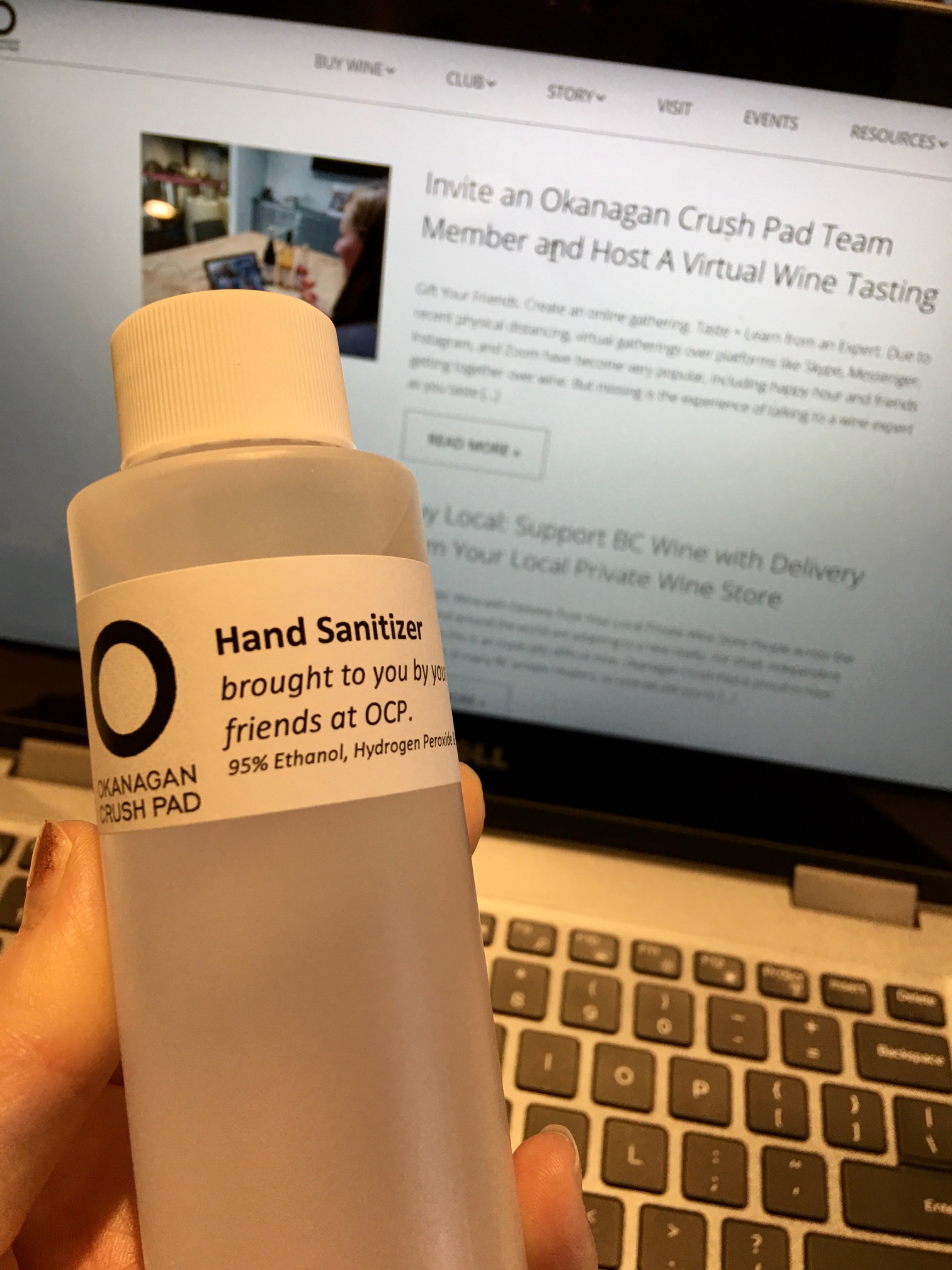 Okanagan Crush Pad hand sanitizer